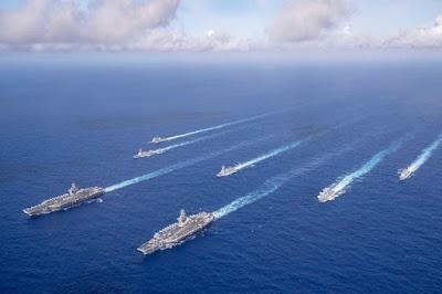 EUA enviarão dois grupos de ataque de porta-aviões ao mar da China Meridional 2