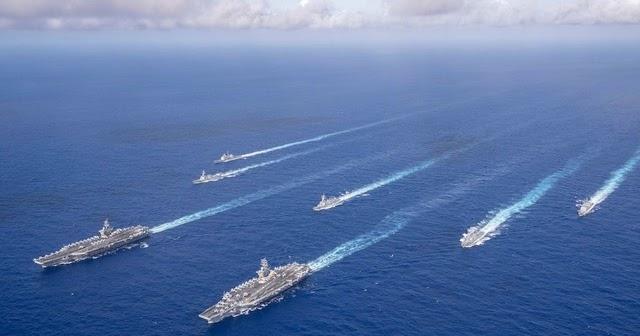 EUA enviarão dois grupos de ataque de porta-aviões ao mar da China Meridional 3