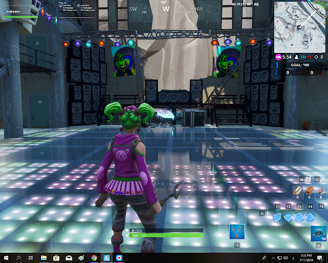 Accessible by using the Laid Back Shuffle Emote inside a dance club FORTBYTE Mission #05