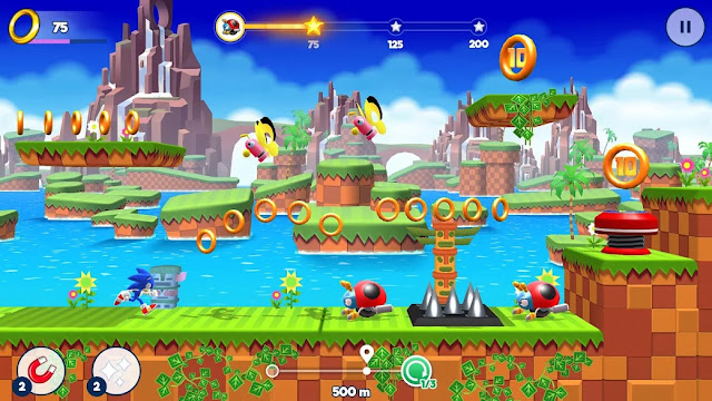 Sonic Runners Adventure - Fast Action Platformer game