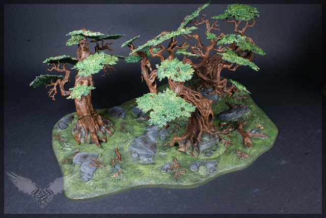 warhammer age of sigmar sylvaneth wyldwood painted forest scenery miniatures 3
