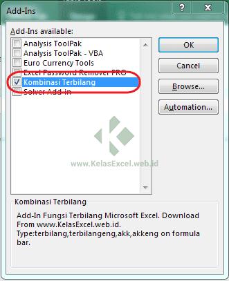 Download Add-In Fungsi Terbilang Excel Indonesia dan Inggris