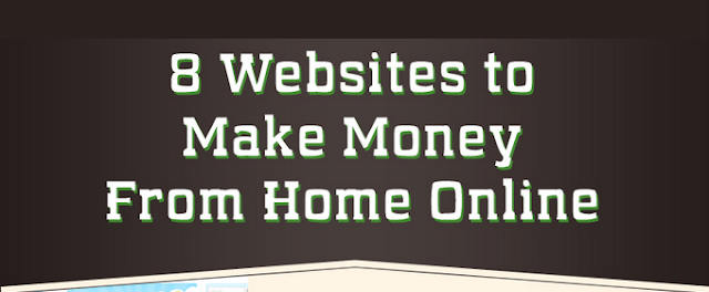 8 Free Ways To Make Money Online From Home #infographic