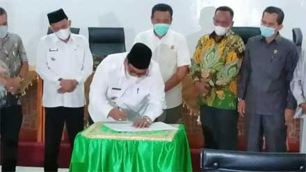KUA & PPAS Perubahan 2021 Disetujui DPRD Padang Pariaman