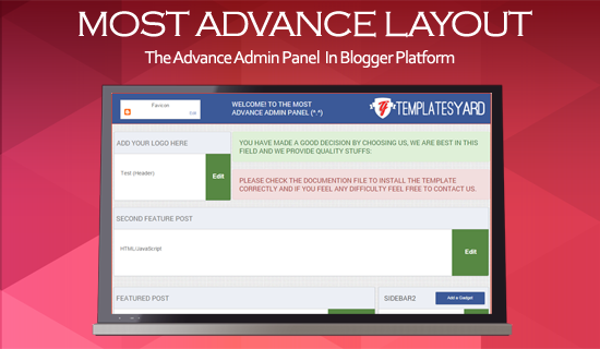 Most Advance Admin Layout