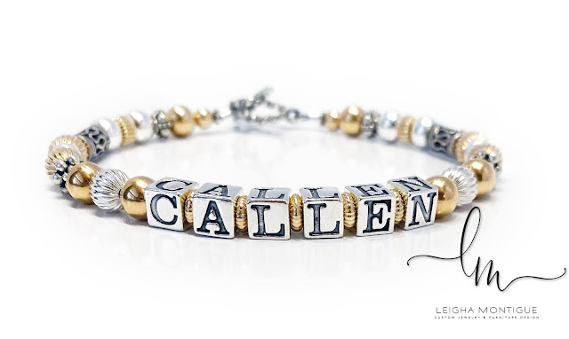 Callen Gold Mother Bracelet  with a Twisted Toggle Clasp - DBL-G6