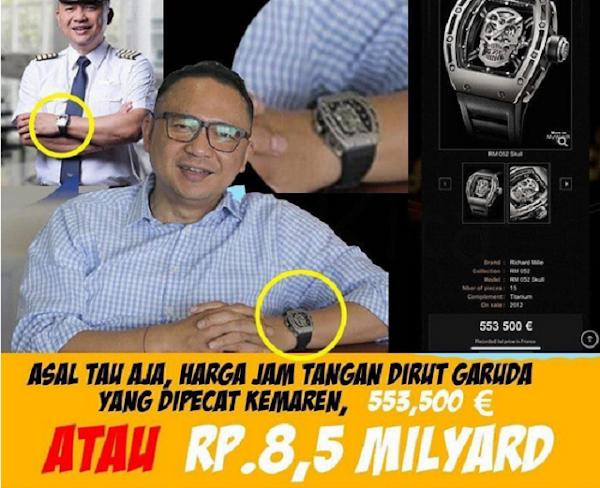 Mewahnya Gaya Ari Askhara Dirut Garuda Indonesia yang Dipecat, Jam Tangannya Seharga Rp 8,5 Miliar