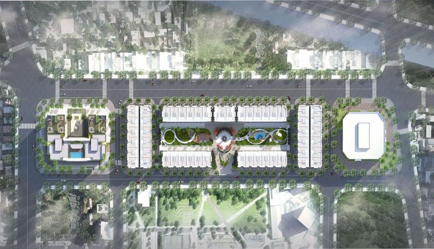 Phối cảnh tổng thể dự án Bình minh garden