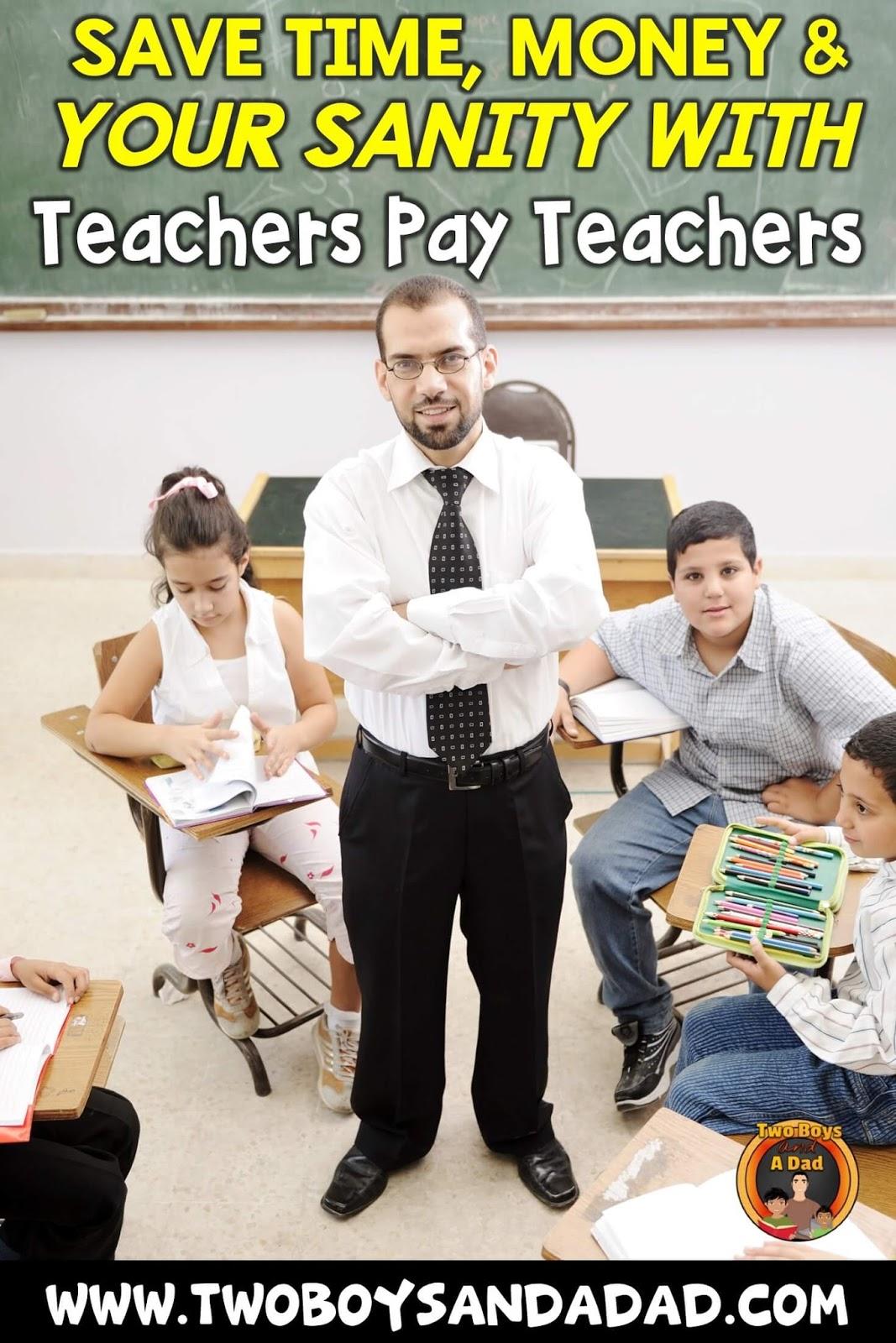 save time and money on Teachers Pay Teachers
