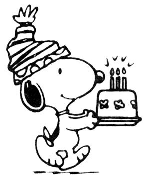 Happy Birthday Snoopy coloring ~ Child Coloring