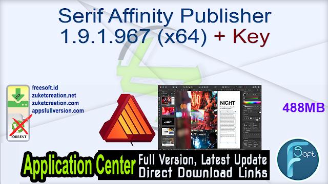 Serif Affinity Publisher 1.9.1.967 (x64) + Key