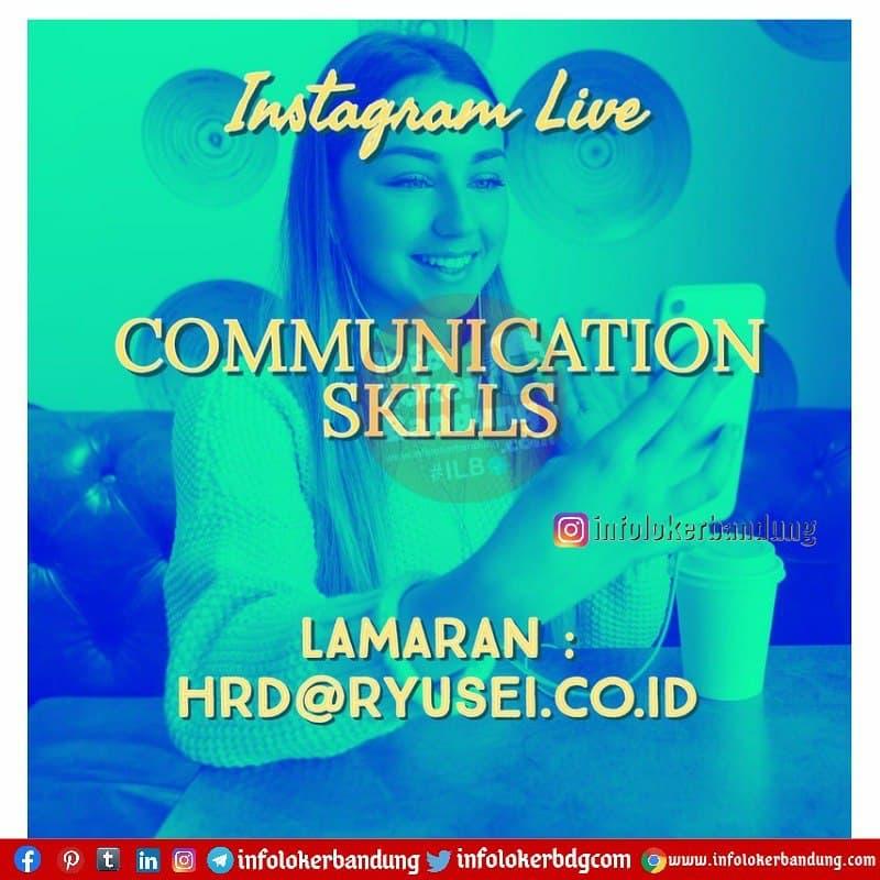 Lowongan Kerja After Effect & Instagram Live Ryusei Bandung April 2021
