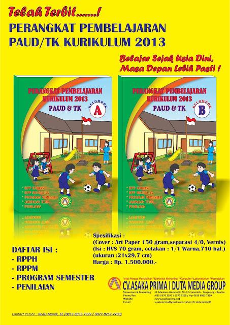 Jual RPP PAUD Kurikulum 2013 Silabus Terbaru , Pusat RPP PAUD TK Kurikulum 2013, buku rpph paud, buku rppm paud, penerbit buku paud,ape bop paud 2017