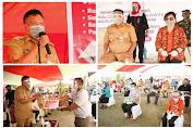 Gubernur Olly Salurkan Bantuan ke Warga Terdampak Covid-19 di Bolmong