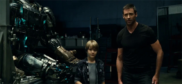 Screen Shot Of Hollywood Movie Real Steel (2011) In Hindi English Full Movie Free Download And Watch Online at worldofree.co