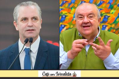 Os prefeitos Ulisses Maia (Maringá) e Rafael Greca (Curitiba)