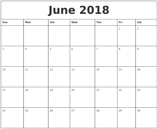 June 2018 Calendar, June 2018 Calendar Printable, Blank June 2018 Calendar, Free June 2018 Calendar, June 2018 Calendar Template, June Calendar 2018, Calendar June 2018