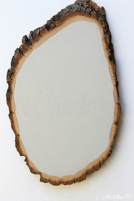 "DIY wood slice wall art. ""Not all who wander are lost"""