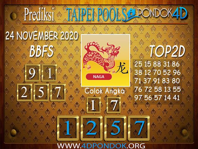Prediksi Togel TAIPEI PONDOK4D 24 NOVEMBER 2020