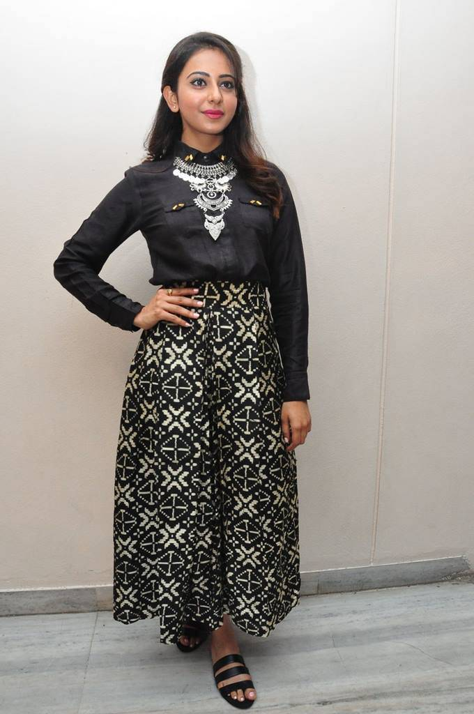 Rakul Preet Singh Gorgeous Stills In Black Dress