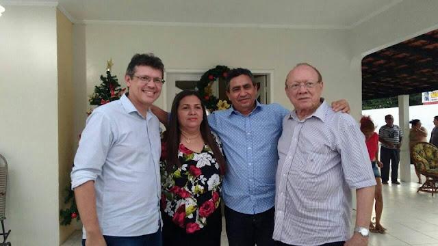 Prefeita de Anapurus Professora Vanderly, Recebeu o Senador João Alberto e o Deputado João Marcelo em sua residencia