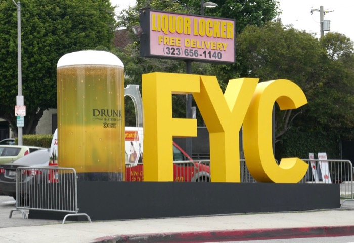 Drunk History beer FYC installation Sunset Strip