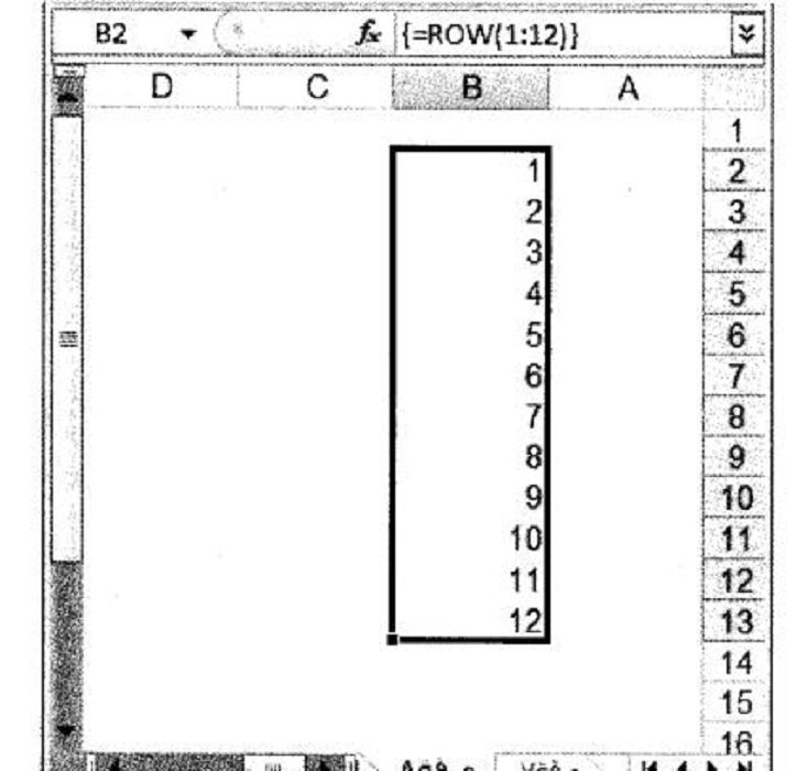 توليد صفيف من القيم الصحيحة المتتالية