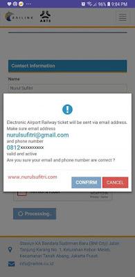 cara tips beli tiket kereta api bandara soekarno hatta online via website railink smartphone nurul sufitri travel lifestyle blogger review