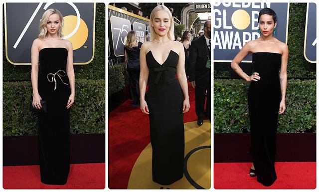 Looks dos globos de ouro 2018; Dove Cameron; Emilia Clarke; Zoë Kravitz