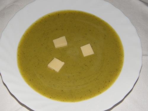 Sopa cremosa de courgette