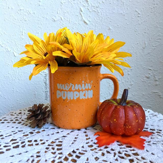 DIY Mug Flower Arrangement for Fall