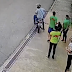Veja o momento em que assaltante é quase atropelado por 'justiceiro' durante arrastão no Dom Pedro, em Manaus