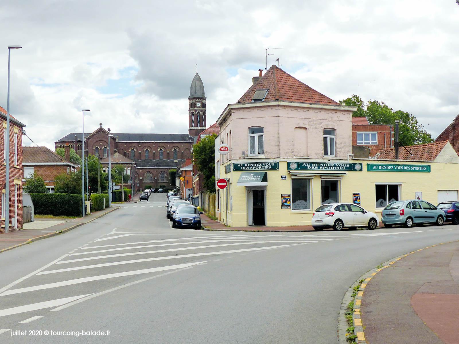 Angle Rue Brun Pain et Rue Besançon, Tourcoing 2020