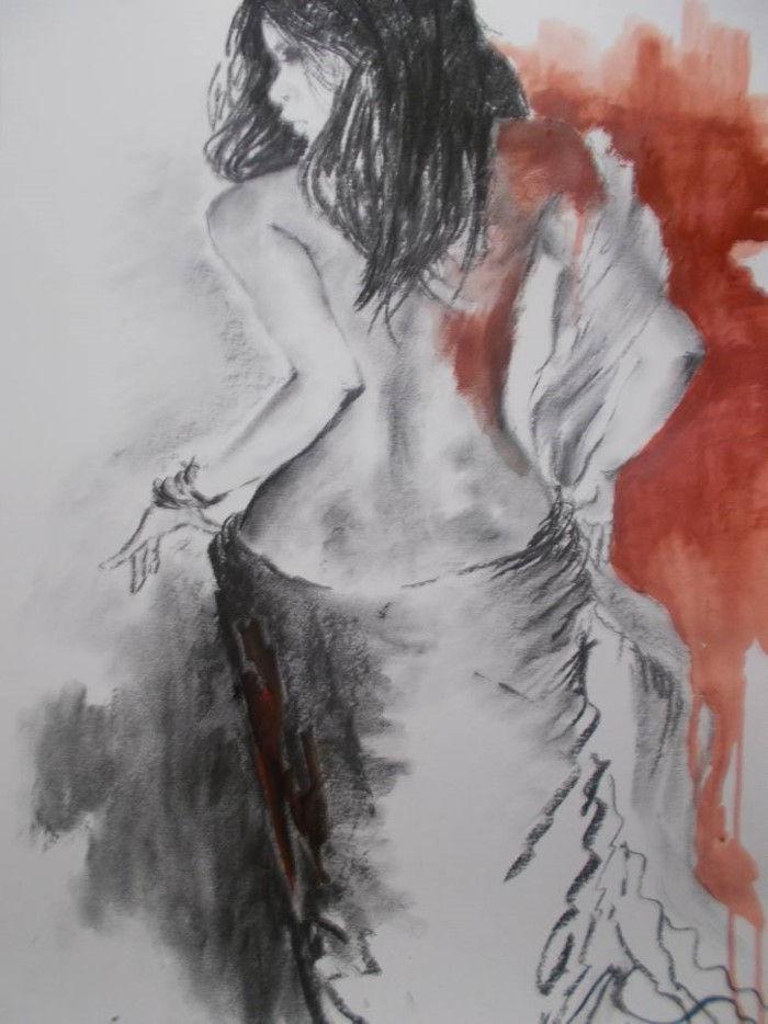 Женщина за холстом. Carin Miller