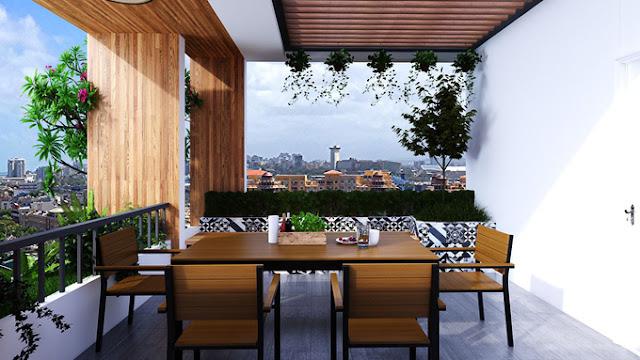 Xây nhà phố đẹp 3 tầng sân vườn giá 900 triệu ở Sài Gòn