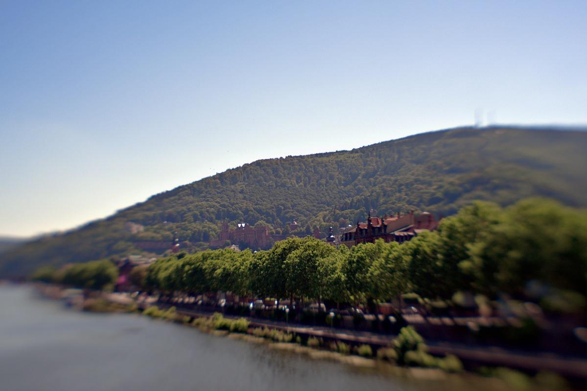 Heidelberger Schloss durchs Lensbaby gesehen