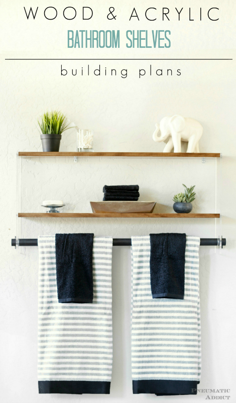 Wood And Acrylic Bathroom Shelf Pneumatic Addict