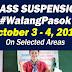 Class Suspension on Oct. 3-4, 2019 (#WalangPasok)