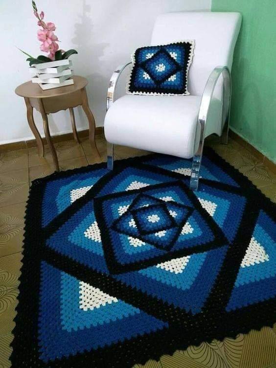 kaleidoscope crochet granny blanket