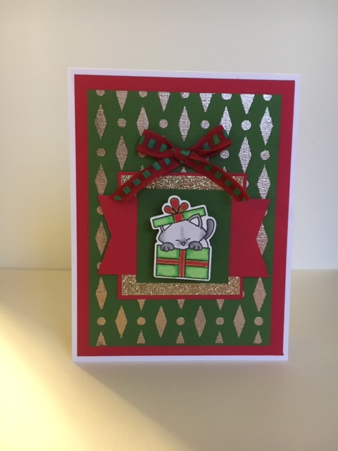 Yvonne's card features Purr-fect Present by Newton's Nook Designs; #newtonsnook