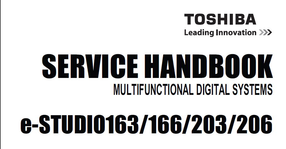 toshiba e studio 163 166 203 206 service manual download service rh servicemanualguidepdf blogspot com Toshiba Laptop Service Manual Toshiba Laptop Service Manual