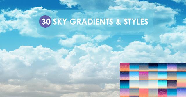 تدريجات لونيه وستايلات بالوان السحاب Sky Gradients