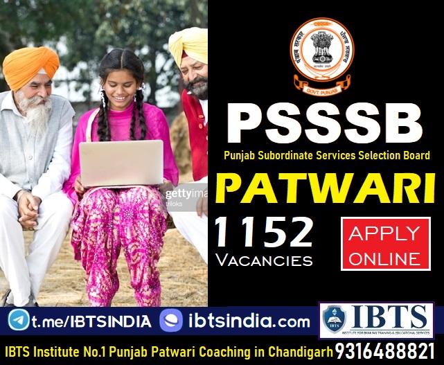 PSSSB Punjab Patwari Recruitment 2021: 1152 Vacancies Apply Online For Punjab Patwari @punjabsssb.gov.in