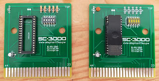 SC-3000 Multicart with through-hole and SMD components