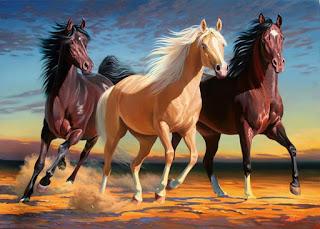 pinturas-de-caballos-arte-al-oleo corceles-pintados-sobre-lienzo