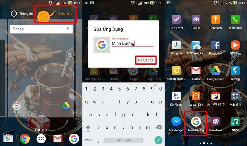 Tùy thích đổi tên ứng dụng trên thiết bị Android trong nháy mắt