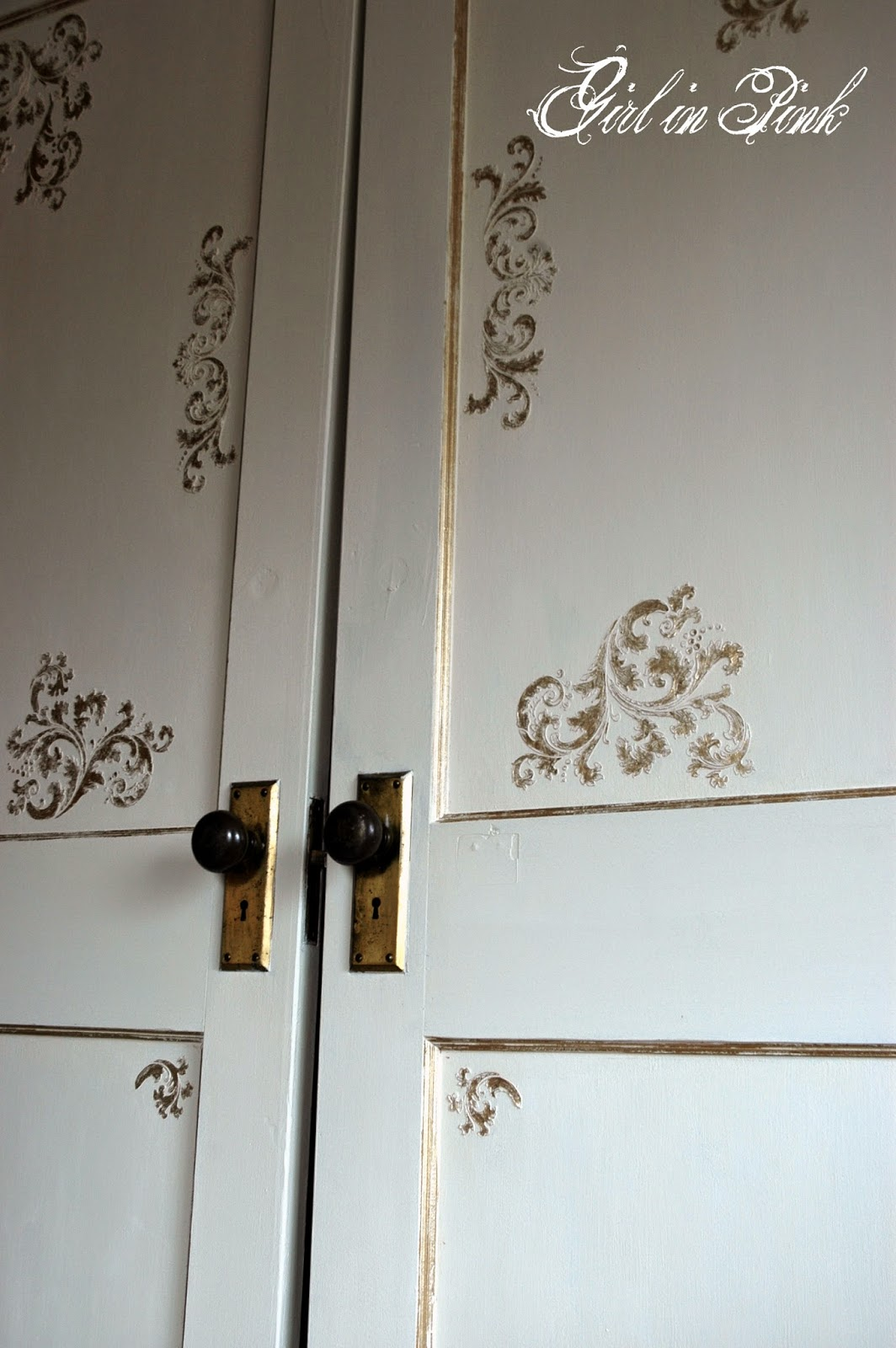 Downton Abbey Drawing Room: Girl In Pink: Downton Abbey Drawing Room Doors: How To