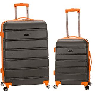 $99,  New Amazon Rockland Melbourne 2-Piece Hardside Spinner Luggage Set