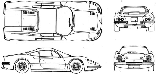 Colorir e Pintar: Ferrari Dino 246-GT