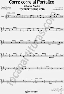 Partitura de para Trompa y Corno en Mi bemol Villancico Sheet Music for Horn and French Horn Music Scores